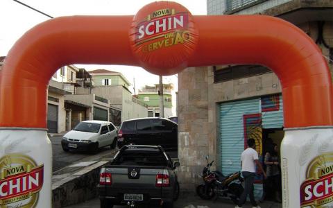 Portal Inflável Nova Schin